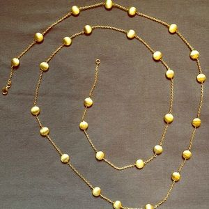 "Vermeil 48"" necklace (gold over sterling silver)"